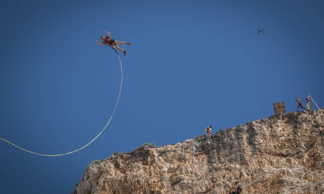 Salto de equipe francesa na Grécia Foto: Fred Marie/Art in All of Us / Corbis via Getty Images