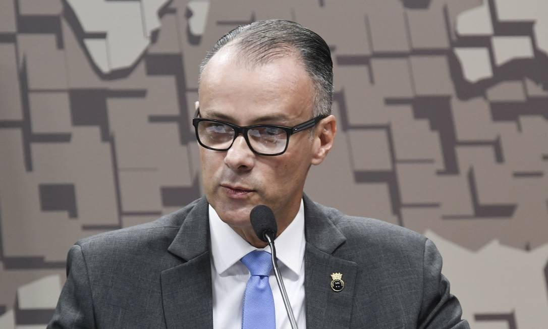 O presidente da Anvisa, Antonio Barra Torres, foi sabatinado no Senado Foto: Leopoldo Silva/Agência Senado/10-07-2019