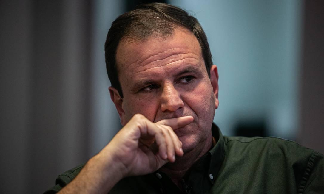 O ex-prefeito Eduardo Paes (DEM) tenta voltar ao cargo que ocupou entre 2009 e 2016 Foto: Hermes de Paula / Agência O Globo
