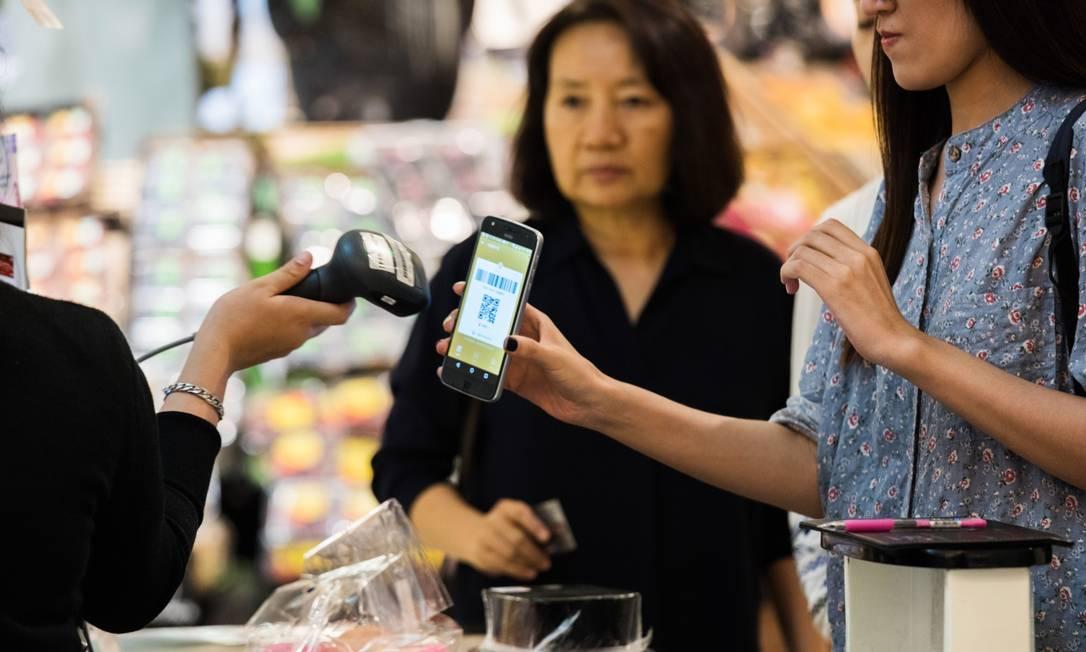 Na Tailândia, o uso de pagamentos digitais instantâneos é bastante difundido Foto: Amanda Mustard / Bloomberg