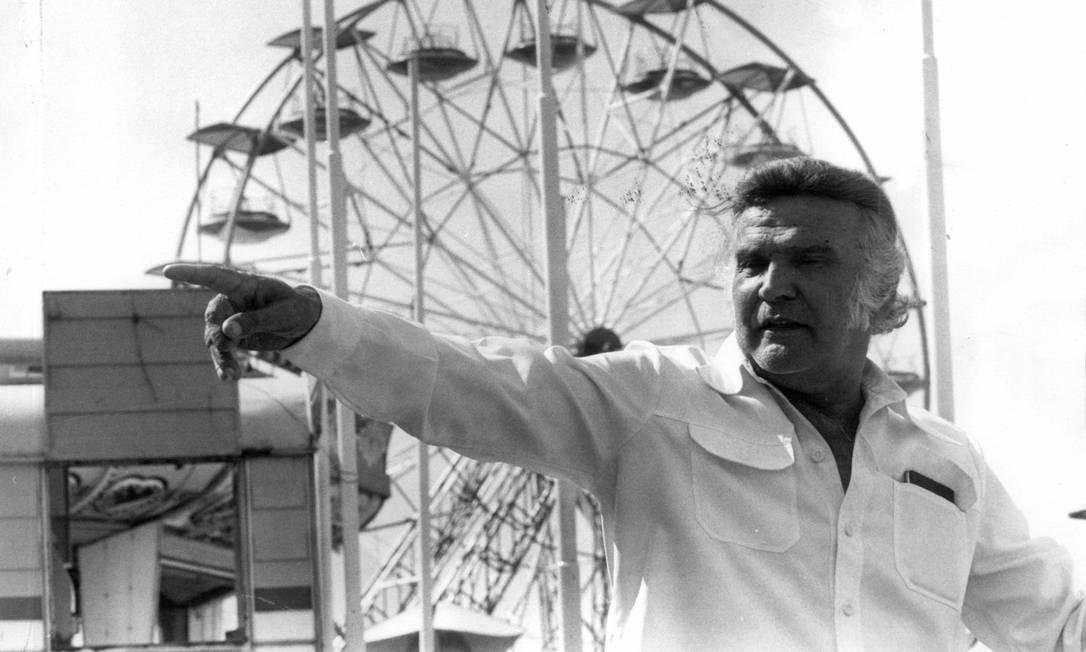 O circense italiano Orlando Orfei fundou o Tivoli Park em 1972 Foto: Eurico Dantas / Agência O Globo - 06/05/1981