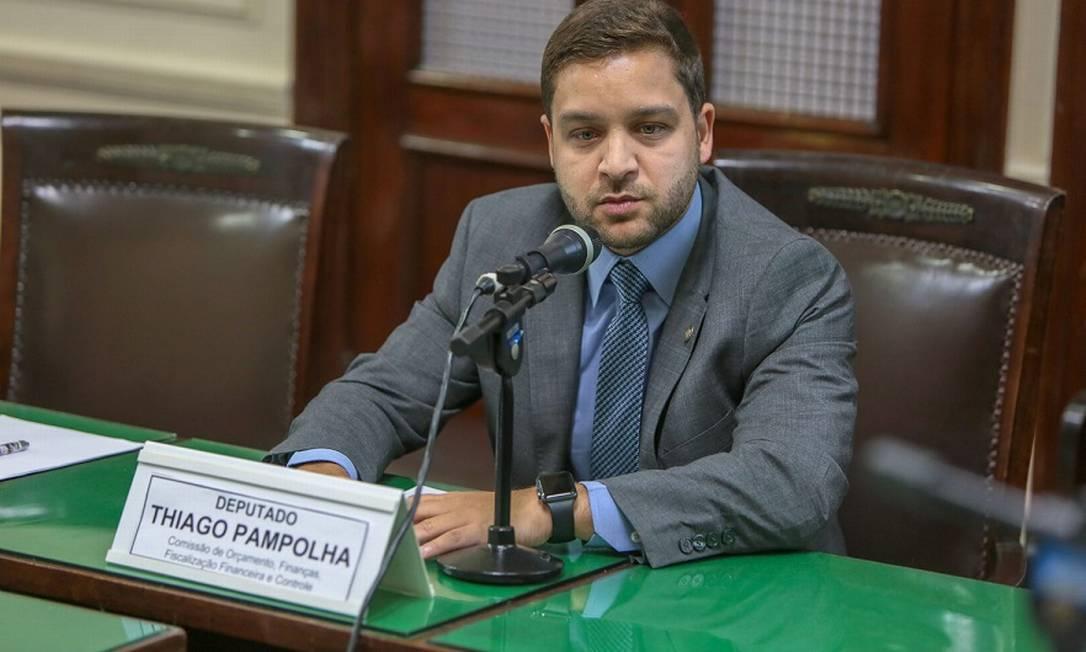 Deputado estadual Thiago Pampolha (PDT), novo secretário estadual do Ambiente Foto: Rafael Wallace - Alerj