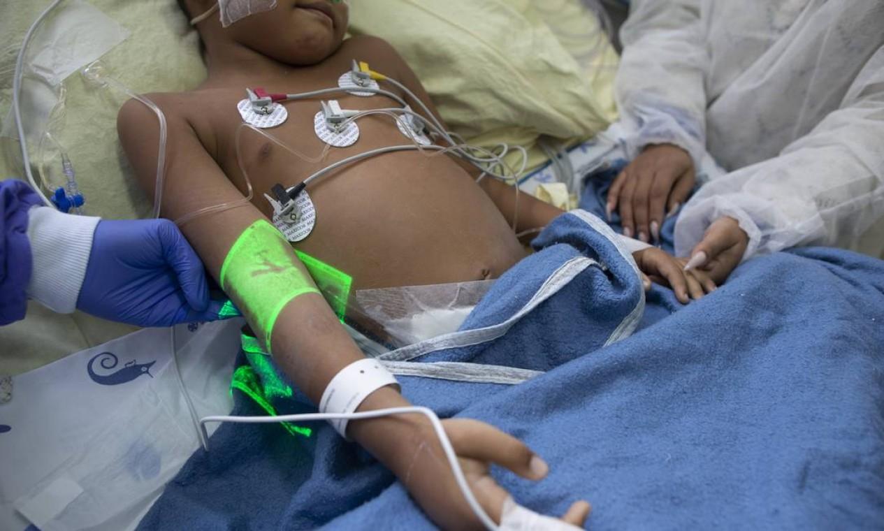 UTI infantil de Covid-19 do Hospital Universitário Pedro Ernesto, no Rio Foto: Márcia Foletto / Agência O Globo