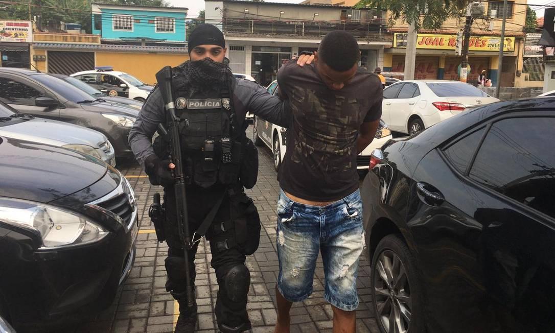 Um dos presos na Operação Próspera Foto: Rafael Nascimento de Souza / Agência O Globo