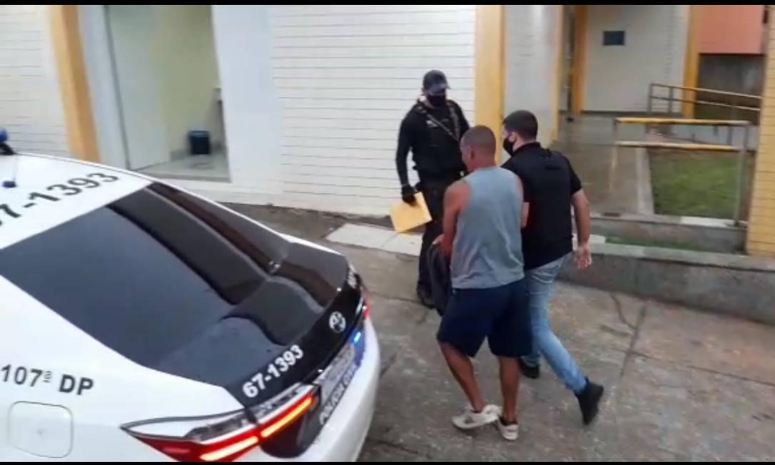 Homem apontado como o segundo em hierarquia da quadrilha foi preso na manhã desta quinta-feira Foto: Reprodução