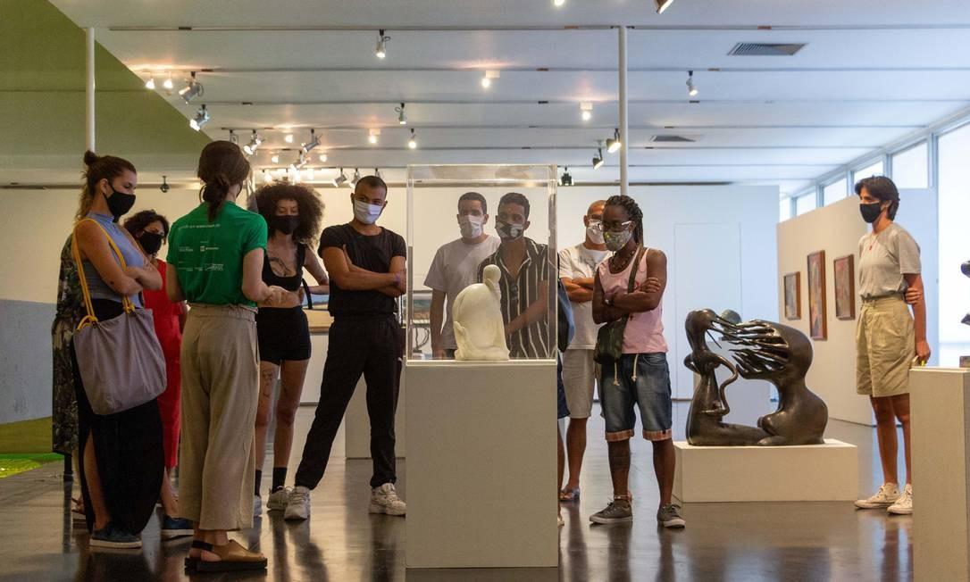 Visita guiada no MAM para grupos de até oito pessoas Foto: Fabio Souza / Divulogação/