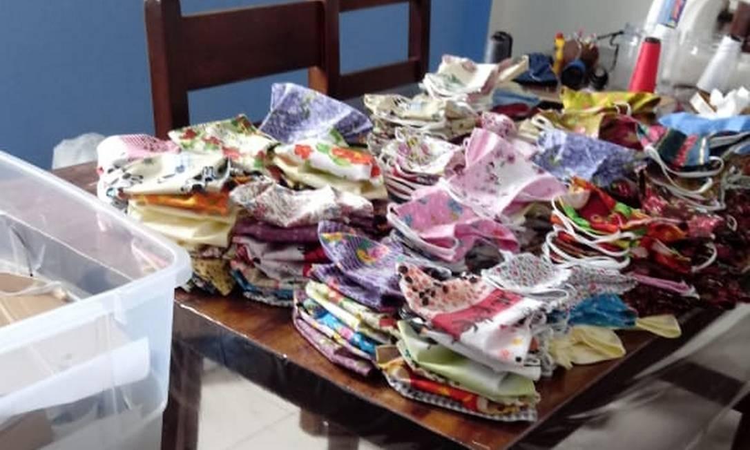 Tecidos foram doados por familiares Foto: Acervo pessoal