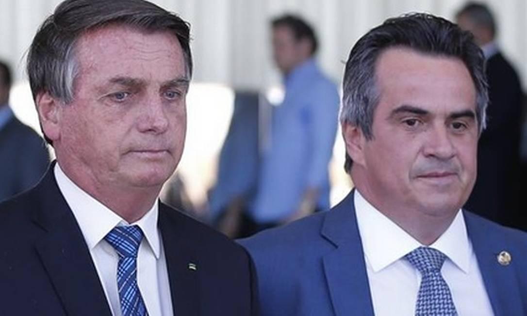 Bolsonaro e o senador Ciro Nogueira Foto: Pablo Jacob