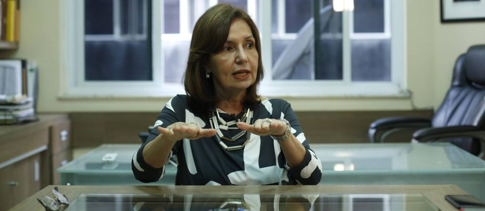 Martha Rocha* diputa a prefeitura do Rio pelo PDT Foto: Fabio Rossi / Agência O Globo