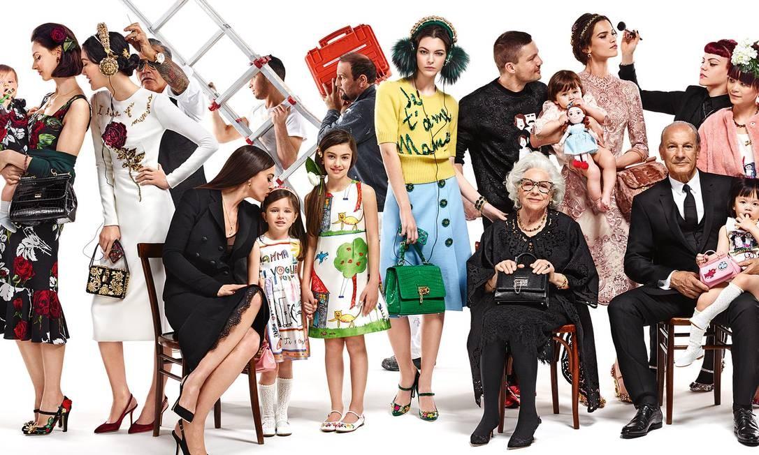 Eloisa na campanha da Dolce & Gabbana em 2016 Foto: Divulgação
