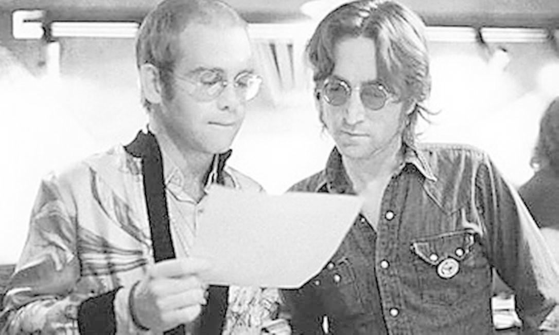 Encontro de Johns: Elton e Lennon Foto: Arquivo