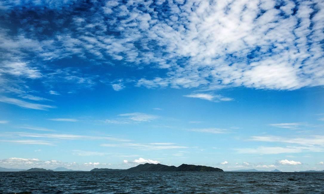 A Ilha San Lucas vista de longe: ela fica a 8km de distância da cidade de Puntarenas, no litoral oeste da Costa Rica Foto: Ezequiel Becerra / AFP