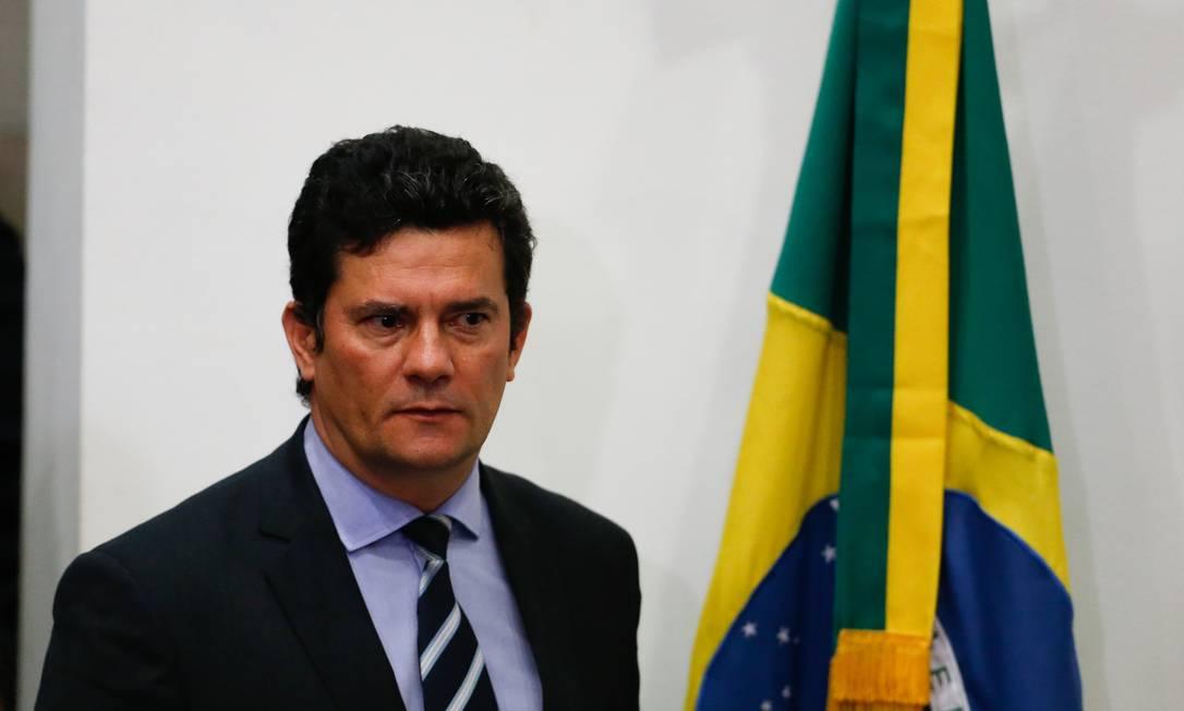 O ex-ministro Sergio Moro acusa Jair Bolsonaro de interferência na Polícia Federal Foto: Pablo Jacob/Agência O Globo/24-04-2020