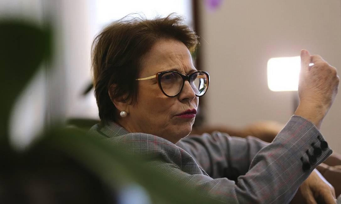 """A ministra da Agricultura, Tereza Cristina: """"vozes mal-intencionadas"""" contra o acordo. Foto: Jorge William / Agência O Globo"""
