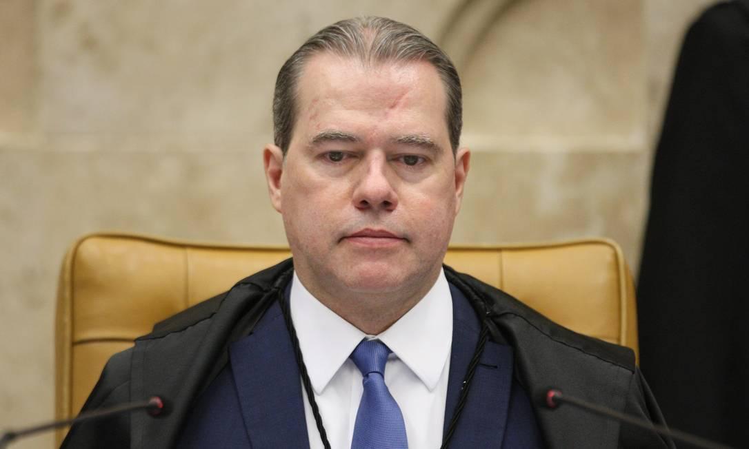Ministro Dias Toffoli preside sessão Foto: Nelson Jr. / Agência O Globo