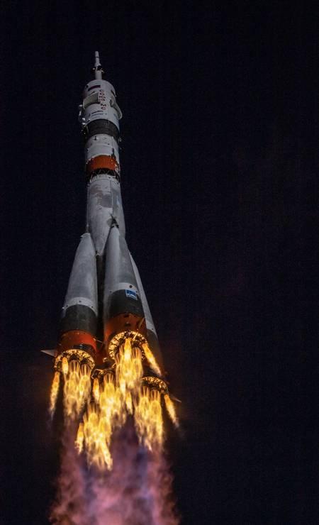 A espaçonave Soyuz MS-17 Foto: RUSSIAN SPACE AGENCY ROSCOSMOS / via REUTERS
