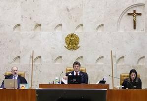 Luiz Fux preside sessão do STF (10/07/2020) Foto: Divulgação