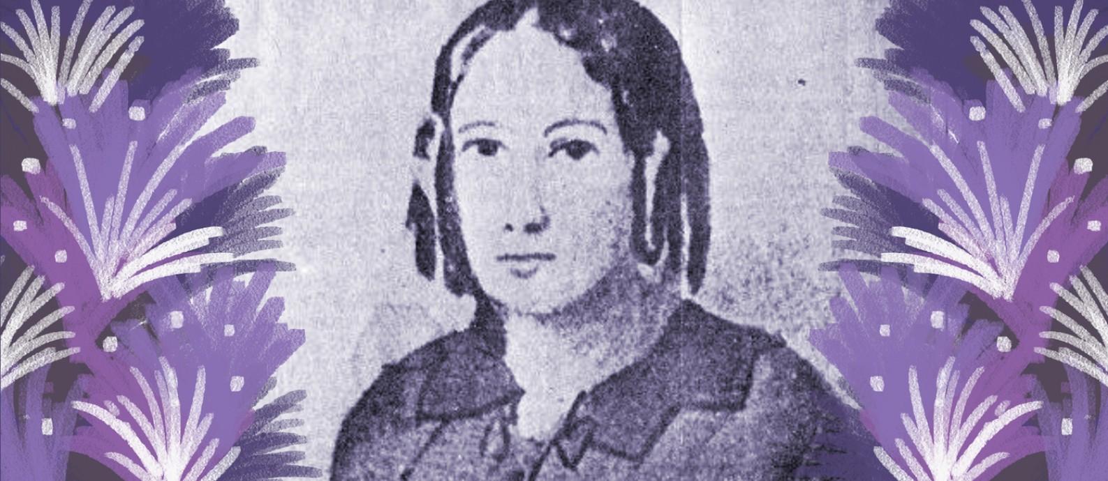 Nísia Floresta fundou um colégio para meninas no Rio de Janeiro em 1838, onde ensinava latim, francês, música, ciências e noções de geografia Foto: Reprodução