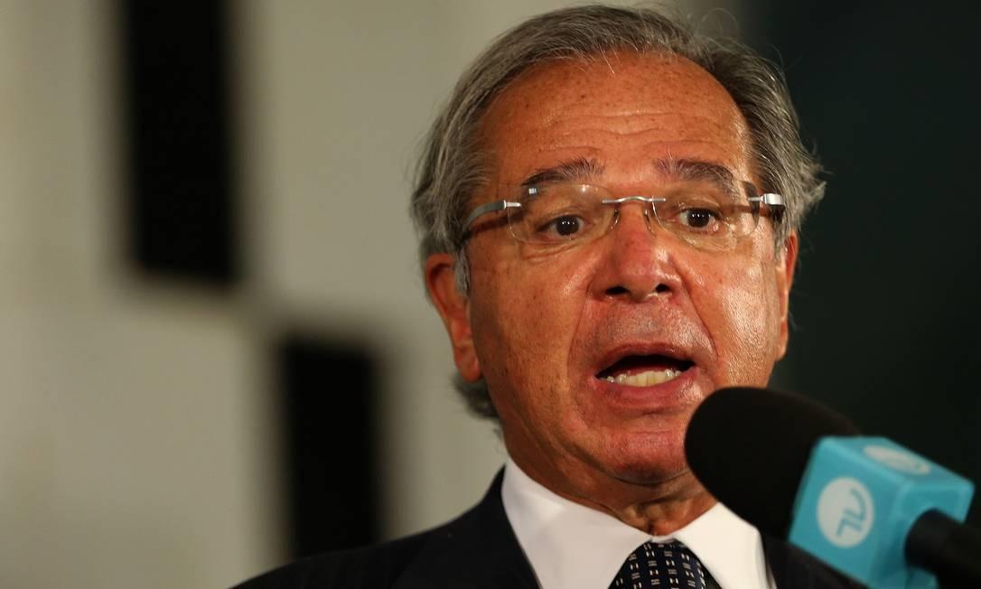 O ministro da Economia, Paulo Guedes, em visita ao Congresso Nacional Foto: Jorge William / Agência O Globo / 08-10-2020