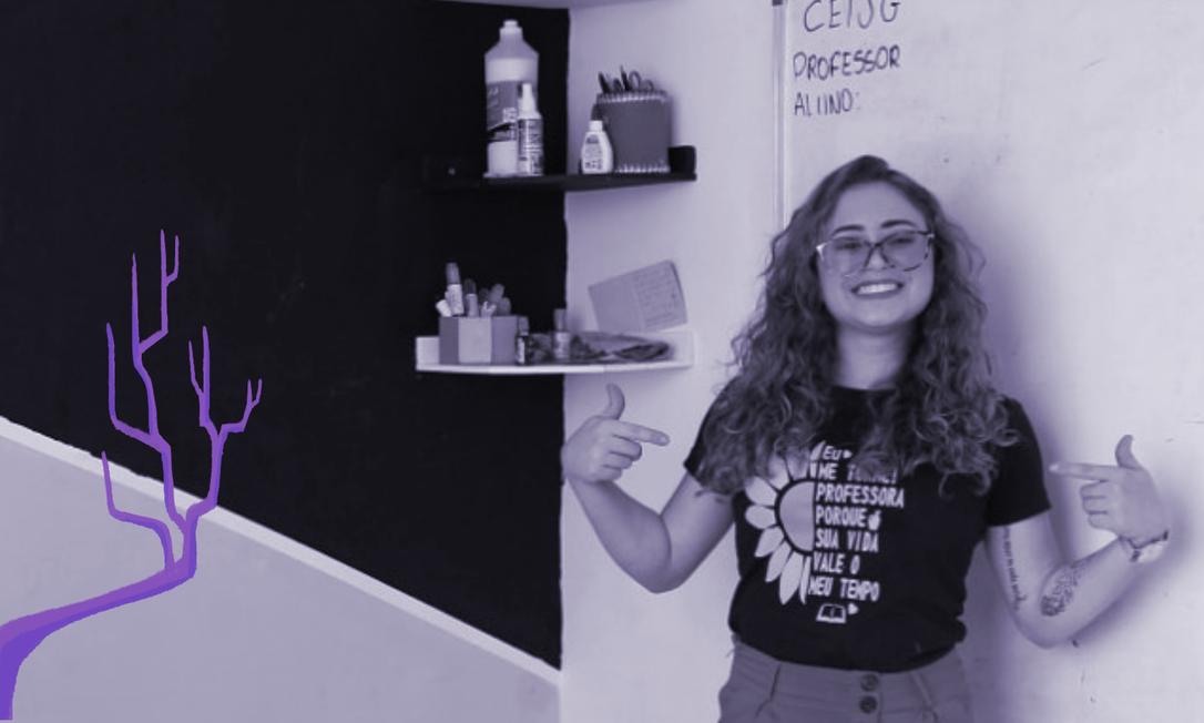 Dia dos Professores: Jennifer Garrido viralizou nas redes sociais após publicar um vídeo em sua página no Facebook ensinando seus alunos sobre a importância de respeitar o corpo feminino e não permitir o toque nas partes íntimas Foto: Arquivo Pessoal