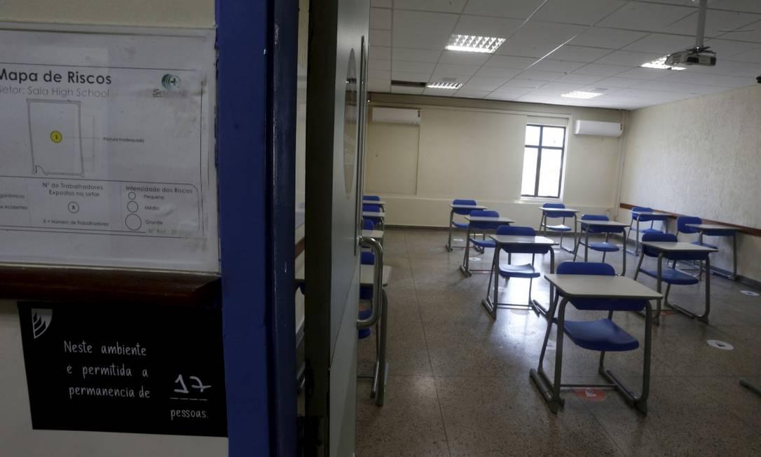 Indefinição: escolas particulares discutem sobre aprovação automática de alunos em 2020; tendência é que modelo seja seguido Foto: Fabiano Rocha em 21-9-2020 / Agência O Globo