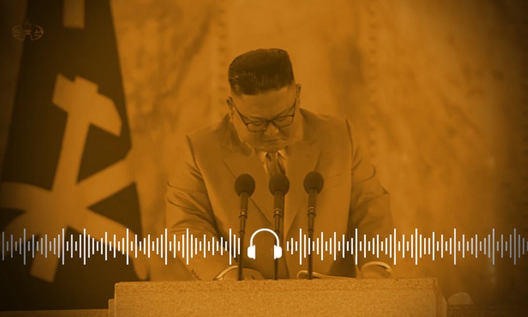 Kim Jung-un chorou ao lamentar que fracassou na missão de recuperar a economia Foto: REUTERS/12-10-20