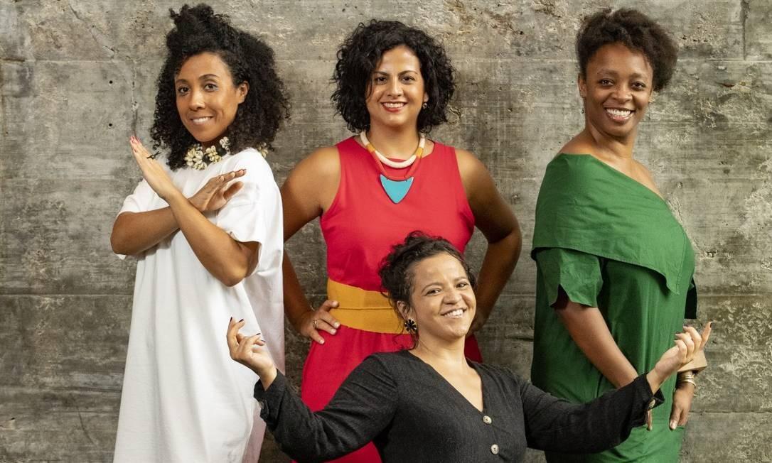 Da esquerda para a direita: Camilla, Lucimara, Keyna (em pé) e Gleyce Kelly Foto: Ana Branco / Agência O Globo