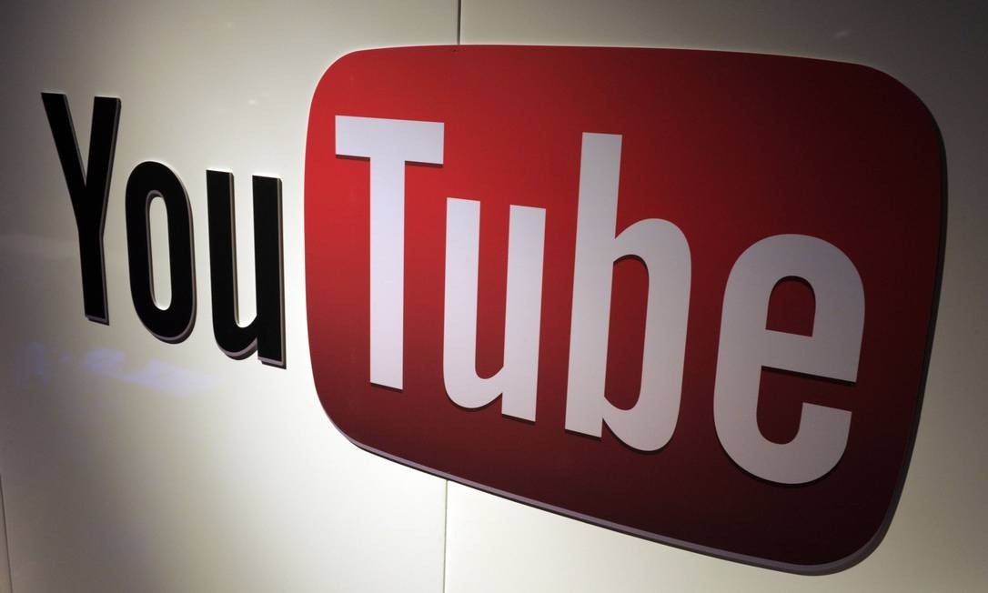 Logo do Youtube Foto: ERIC PIERMONT / AFP