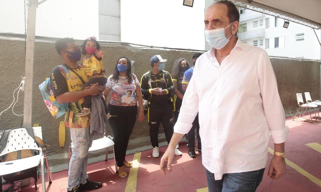 Candidato à reeleição, o prefeito de Belo Horizonte Alexandre Kalil (PSD) participa de ato com representantes da cultura junina Foto: Divulgação