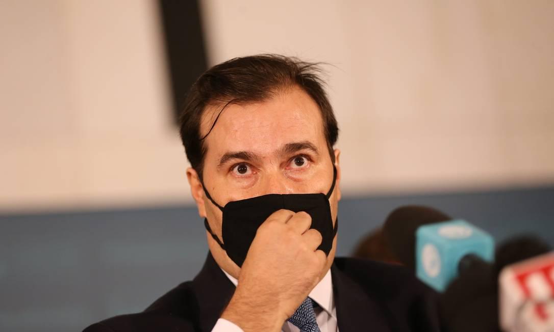 O presidente da Câmara dos Deputados, Rodrigo Maia, alerta que aprovar Orçamento de 2021 antes da PEC Emergencial é 'risco para o governo' Foto: Jorge William / Jorge William
