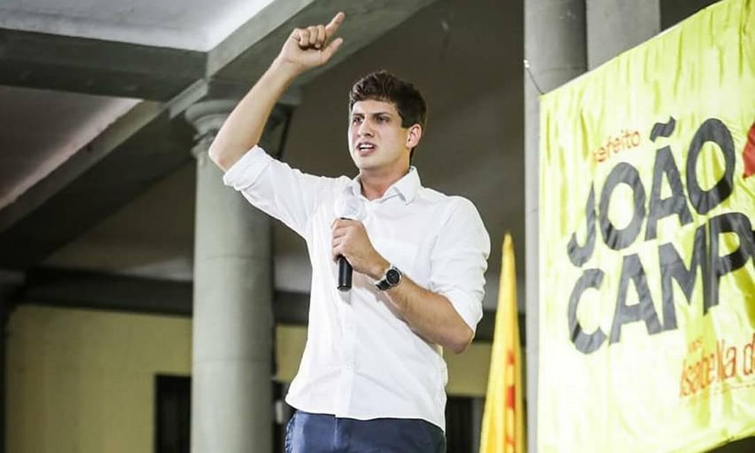 O deputado João Campos (PSB) lidera as pesquisas de intenção de voto na disputa pela Prefeitura de Recife Foto: Divulgação