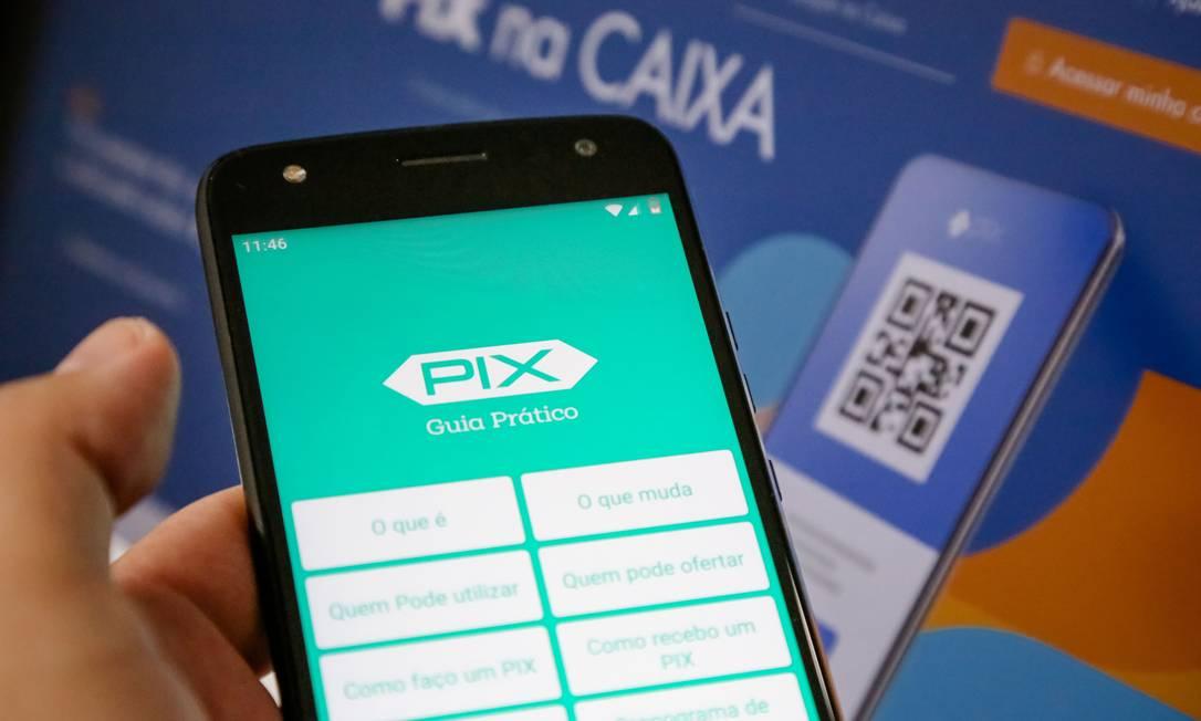Risco. Só no primeiro dia de cadastramento das chaves Pix, especialista em segurança identificou 30 sites falsos Foto: Fotoarena / Agência O Globo