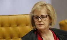 A ministra Rosa Weber, durante julgamento do STF Foto: Jorge William/Agência O Globo/27-11-2019