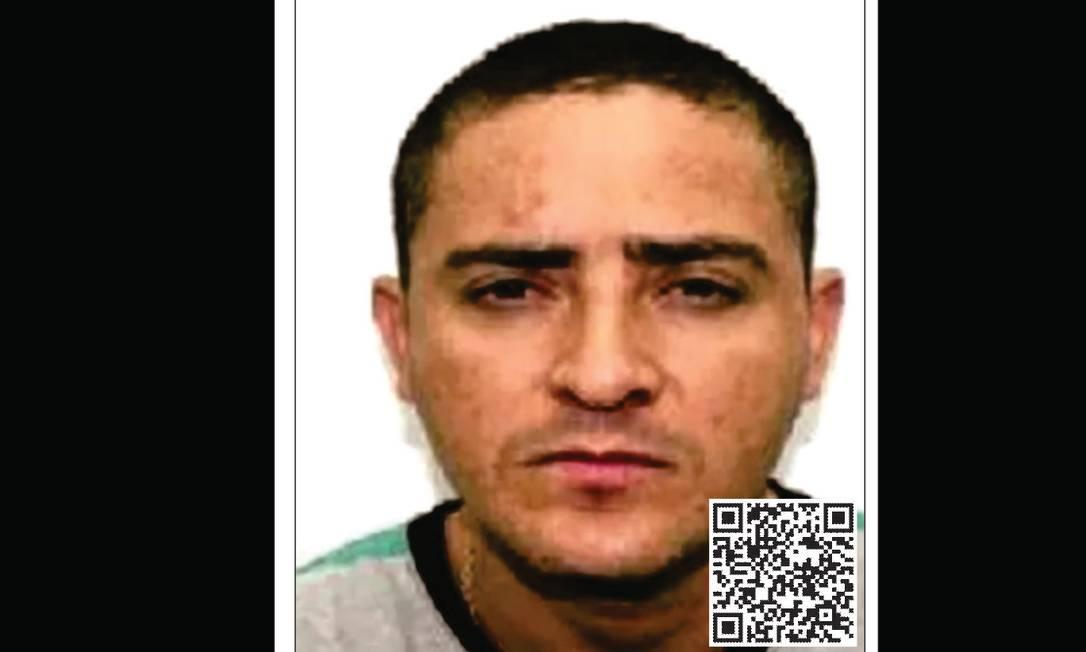 O miliciano Ecko tem mandado em aberto por homicidio e é um dos criminosos mais procurados do Rio Foto: Disque-Denúncia / Reprodução