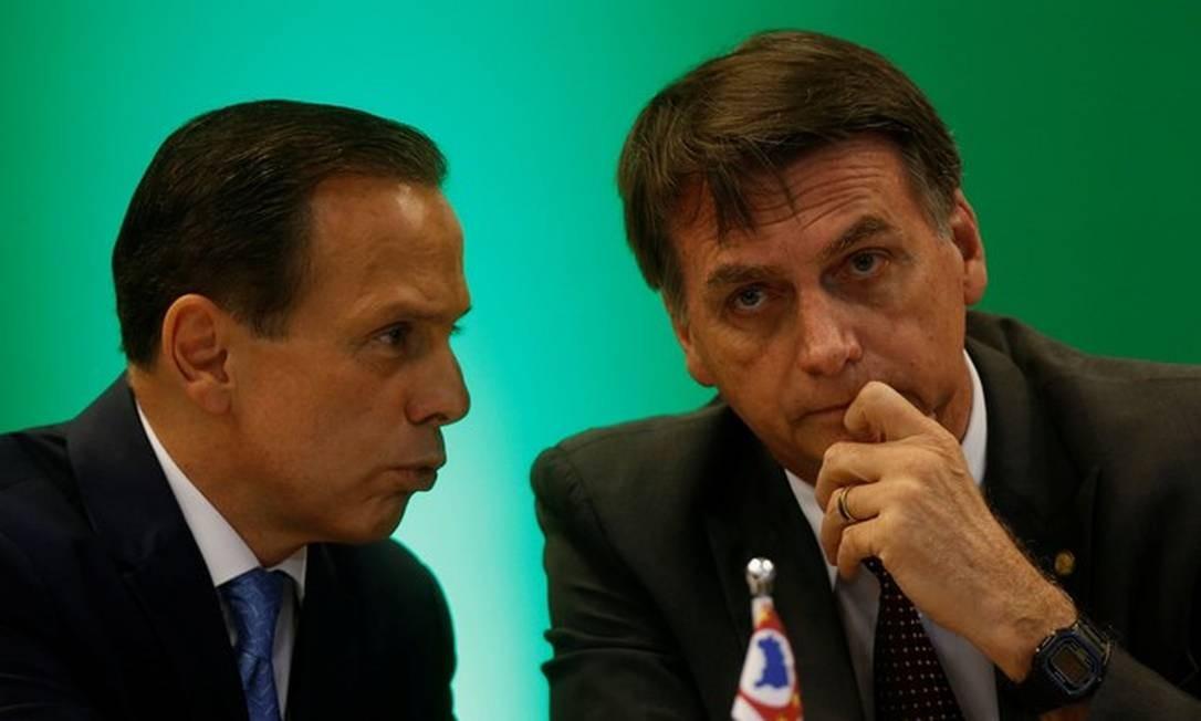 João Doria e Jair Bolsonaro Foto: Adriano Machado/REUTERS