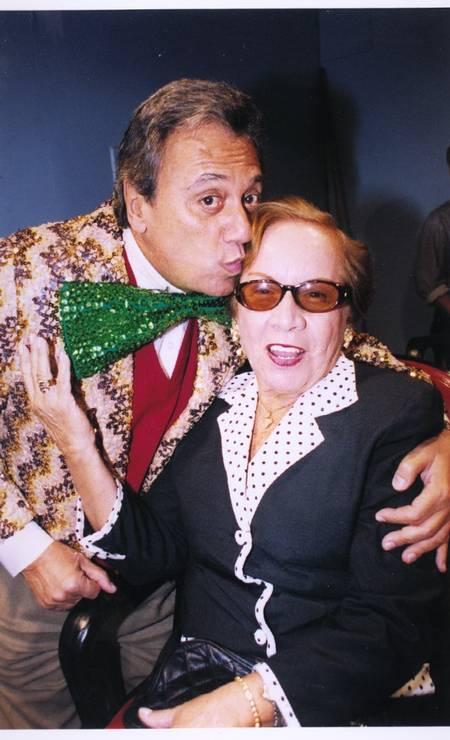 Agildo Ribeiro e Florinda, em 1998 Foto: Vera Donato / Agência O Globo
