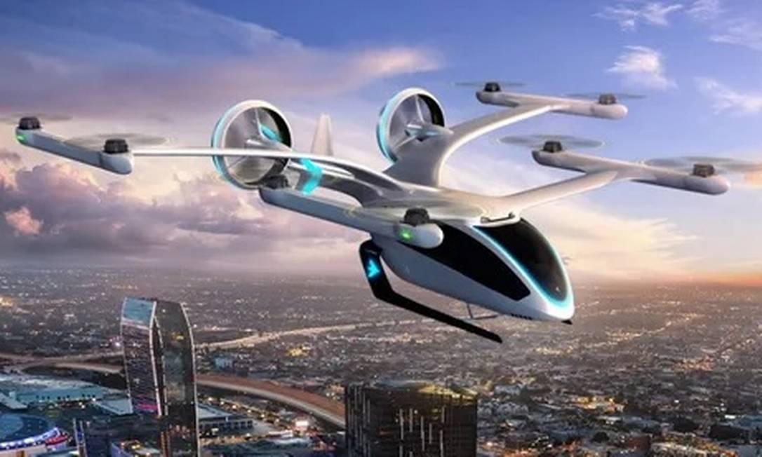 EmbraerX Eve, projeto conceito de veículo aéreo urbano Foto: Divulgação