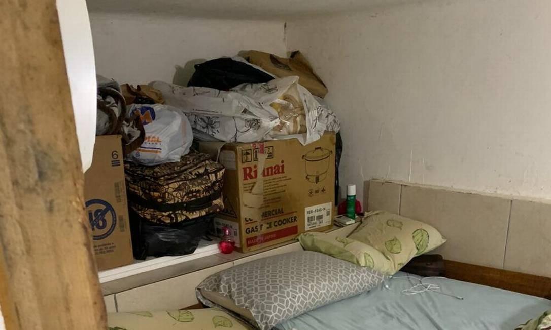 Local onde dormiam os trabalhadores chineses em trabalho escravo Foto: Reprodução