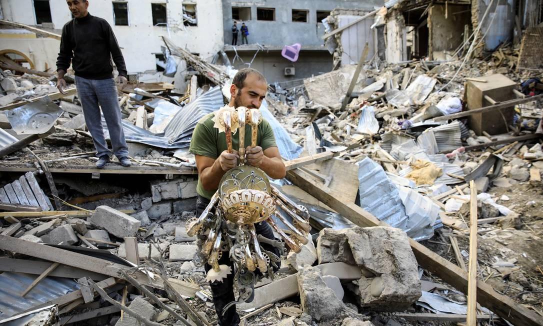 Nagorno-Karabakh: Ganja, a segunda maior cidade do Azerbaijão, foi bombardeada várias vezes nos últimos dias Foto: UMIT BEKTAS / REUTERS/11-10-2020