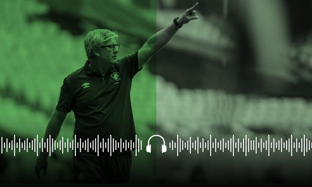 Odair Hellmann, técnico do Fluminense Foto: Arte sobre foto de Lucas Merçon/Fluminense/11.10.2020