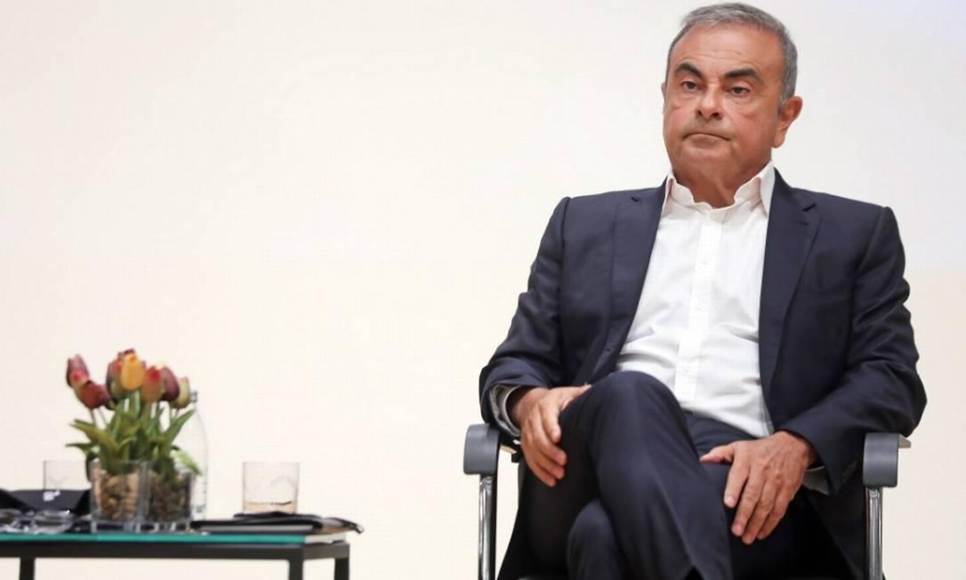 O brasileiro Carlos Ghosn, ex-chefe da Nissan-Renault, Ghosn fugiu do Japão para o Líbano no fim de 2019 Foto: Bloomberg