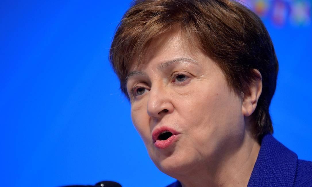 Kristalina Georgieva pede medidas significativas para lidar com o peso da dívida cada vez mais insustentável de alguns países Foto: Mike Theiler / Reuters