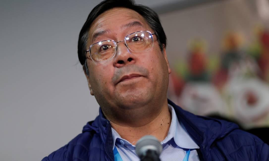 Arce concede entrevista após o resultado das urnas, o que foi reconhecido pela presidente interina, Jeanine Áñez.  O presidente eleito disse que o país