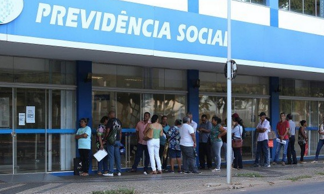 Agência do INSS no Rio de Janeiro Foto: Agência O Globo