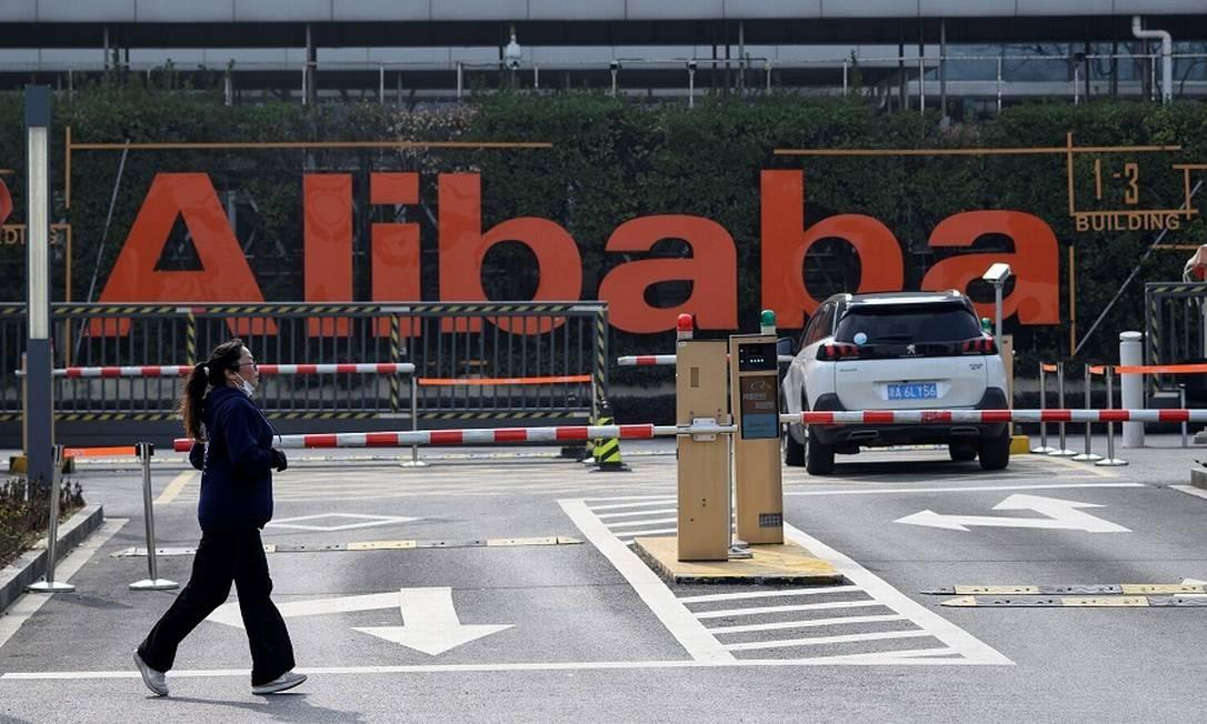 Alibaba: investimento na maior rede de hipermercados chinesa. Foto: NOEL CELIS / AFP