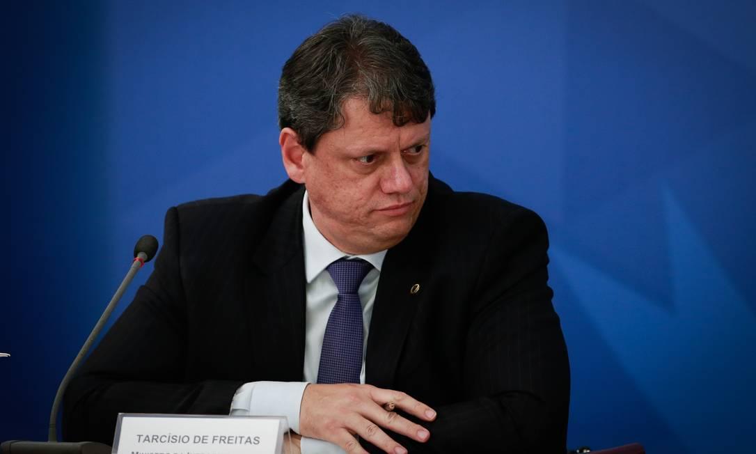 O ministro da Infraestrutura, Tarcísio Gomes de Freitas, responsável pela fusão da EPL com a Valec Foto: Pablo Jacob / Agência O Globo / 26-05-2020
