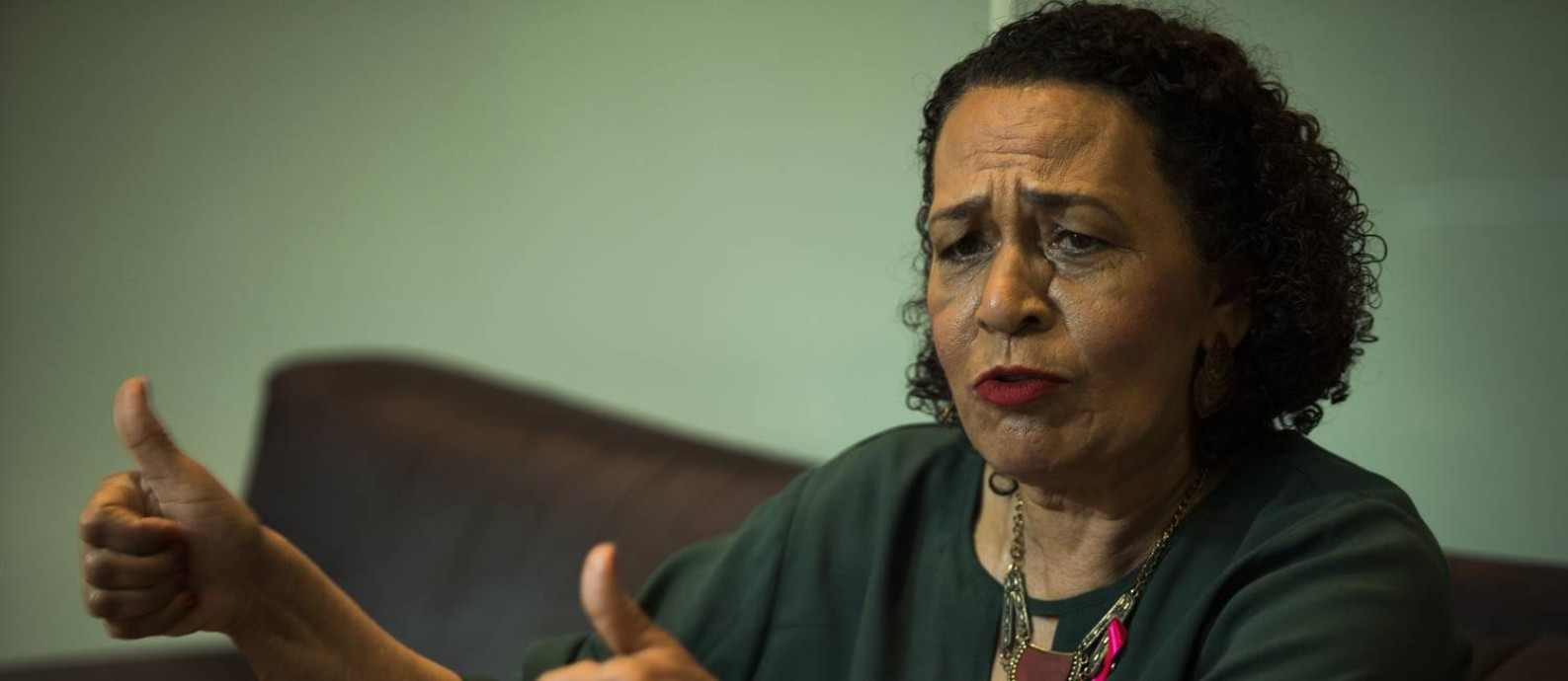 Suêd Haidar, do PMB é candidata à prefeitura do Rio Foto: Guito Moreto/Agência O Globo