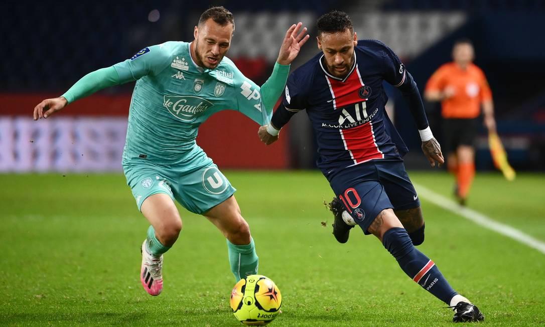 O Paris Saint-Germain de Neymar estreia nesta terça-feira na Champions - Foto: Franck Fife/AFP/02.10.2020