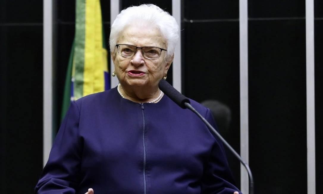 Luiza Erundina, de 85 anos, é deputada e concorreu pelo cargo de vice-prefeita de São Paulo neste ano Foto: Câmara dos Deputados