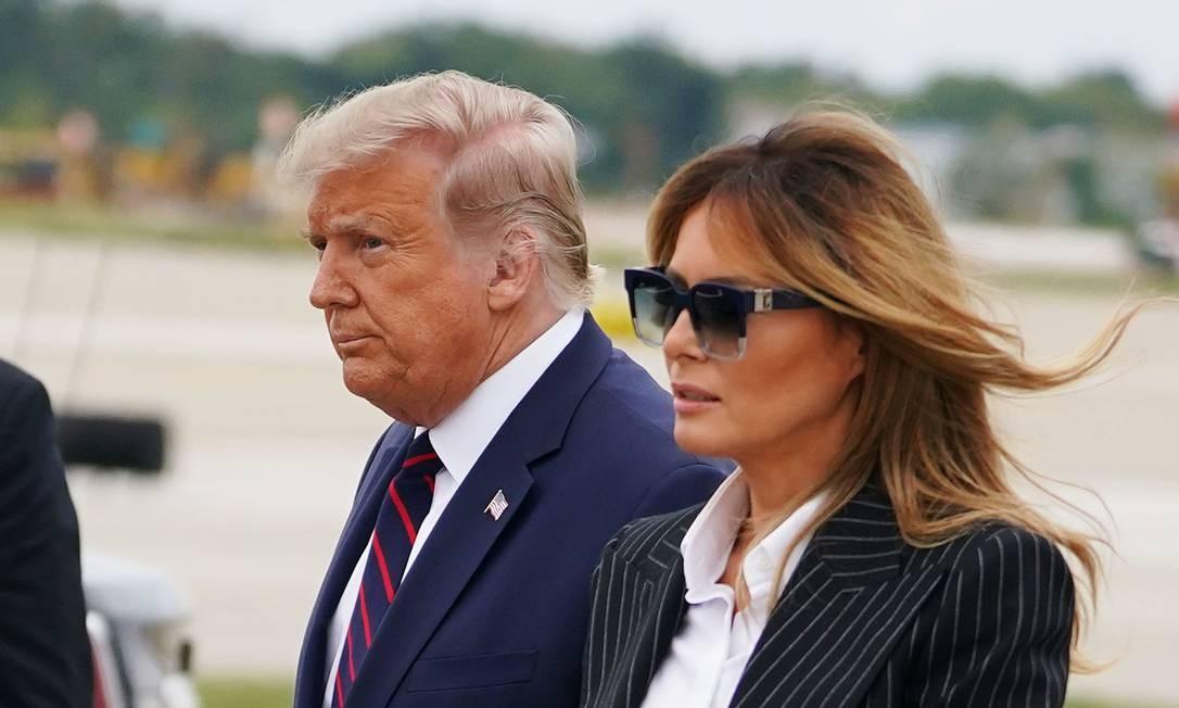 Tosse persistente: primeira-dama dos EUA cancela rara aparição conjunta com Donald Trump em comício de campanha Foto: MANDEL NGAN / AFP/29-10-2020